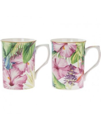 Set de 2 Mugs Décor Tropical
